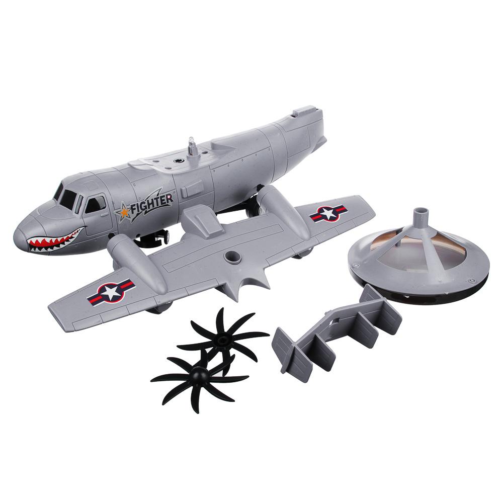 """ИГРОЛЕНД Самолет """"Неудержимый"""", свет, звук, движение, датчики препятствий, 3АА, пластик, 35х13х14см - 3"""