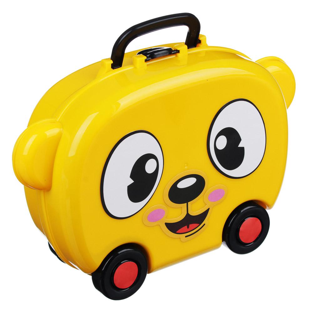 ИГРОЛЕНД Игровой набор в чемодане, 9-17 пр., пластик, 22х15,7х7,2см, 5 дизайнов - 2