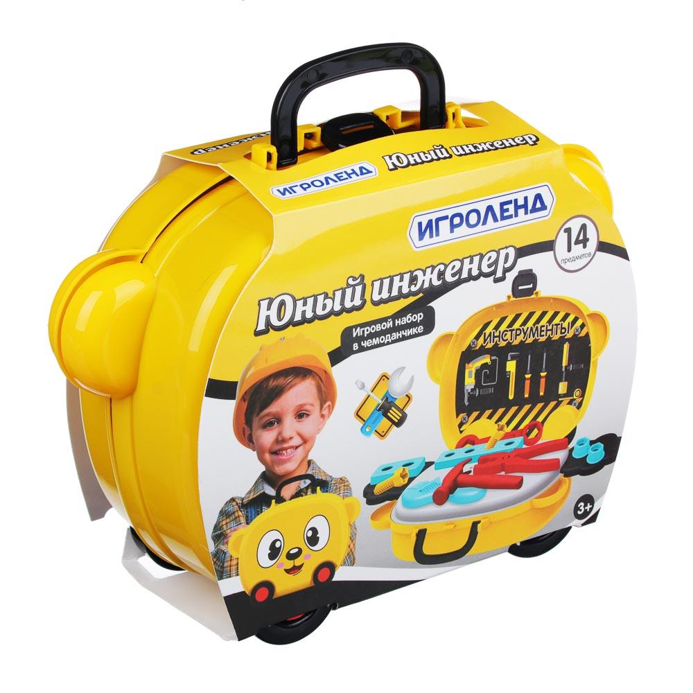 ИГРОЛЕНД Игровой набор в чемодане, 9-17 пр., пластик, 22х15,7х7,2см, 5 дизайнов - 5