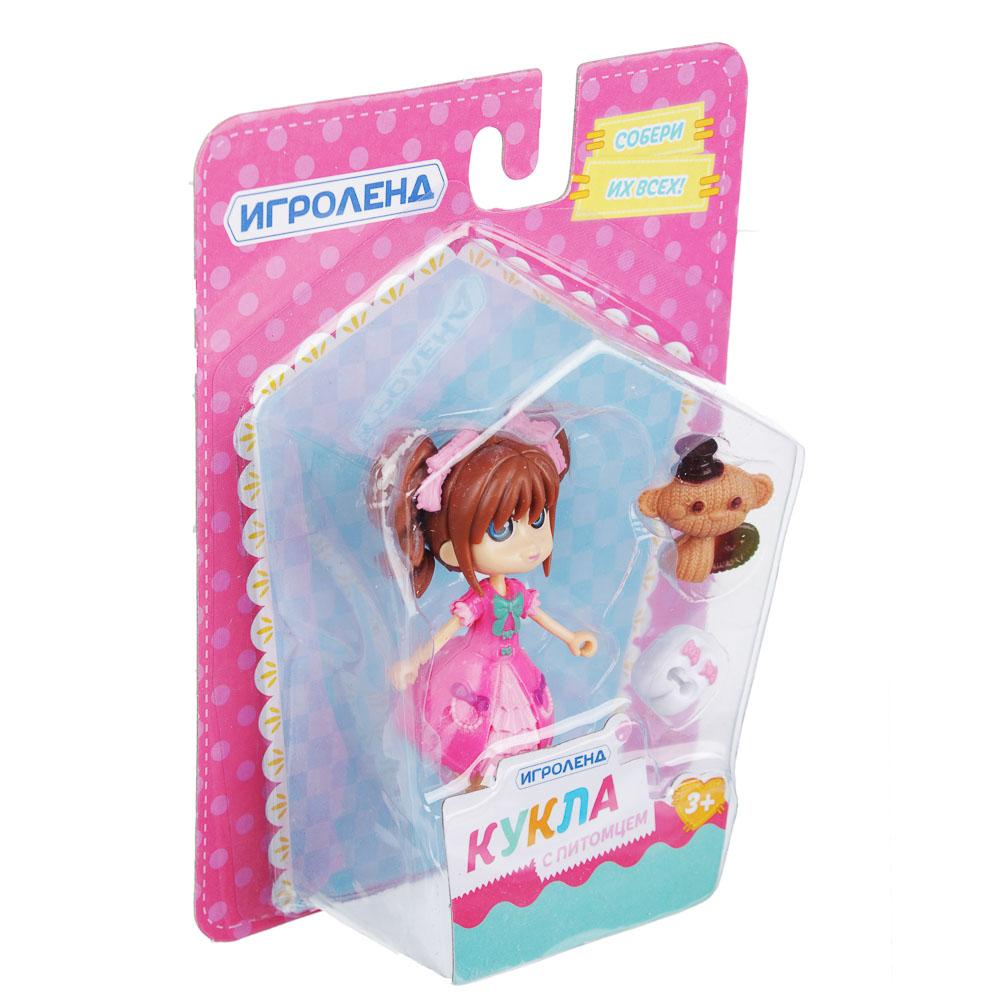 ИГРОЛЕНД Мини фигурка куклы с питомцем и аксессуарами, ABS,PVC, 12,5х16,5х5 см, 6 дизайнов - 4