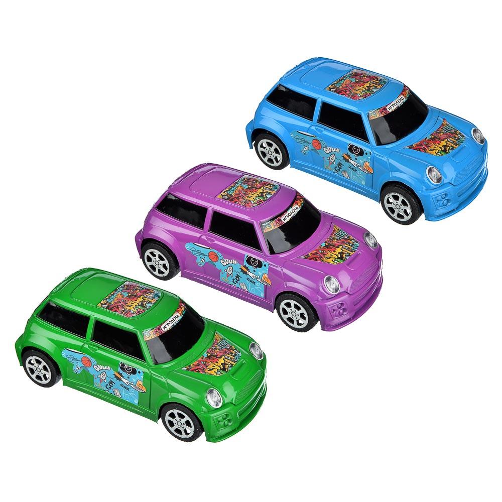 ИГРОЛЕНД Машина городская, инерция, пластик, 17х8х6см, 3 цвета - 2