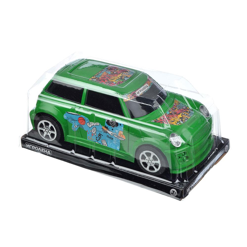 ИГРОЛЕНД Машина городская, инерция, пластик, 17х8х6см, 3 цвета - 3
