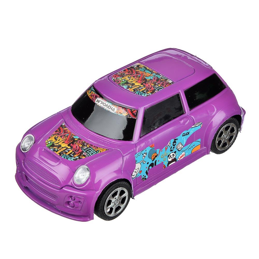 ИГРОЛЕНД Машина городская, инерция, пластик, 17х8х6см, 3 цвета - 4