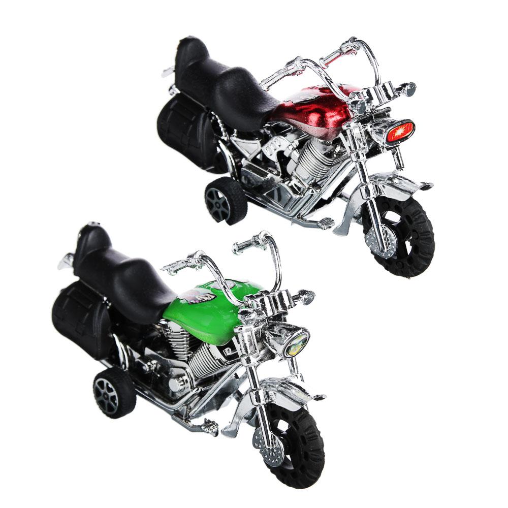 BY Мотоцикл, инерция, пластик, 12х6,5х4,5см, 2 дизайна - 3