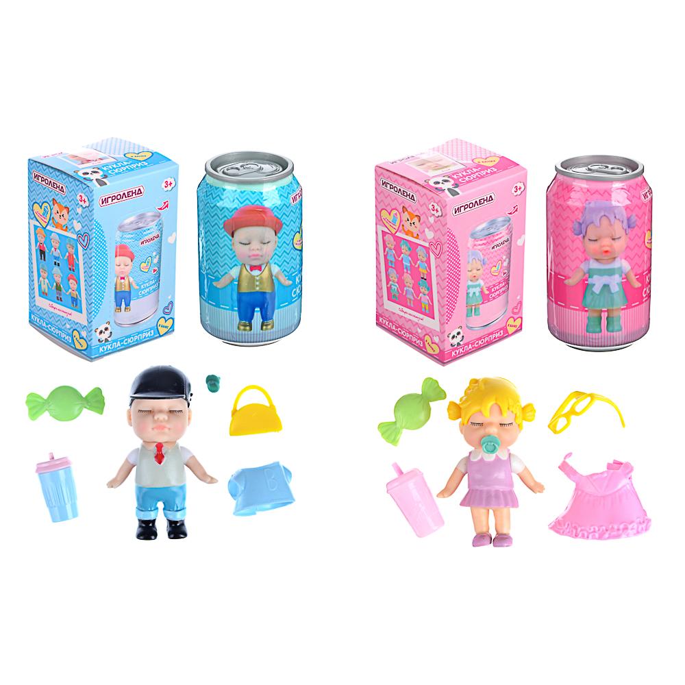 ИГРОЛЕНД Кукла-сюрприз в банке, пластик, 6,3х11см, 6-12 дизайнов - 2
