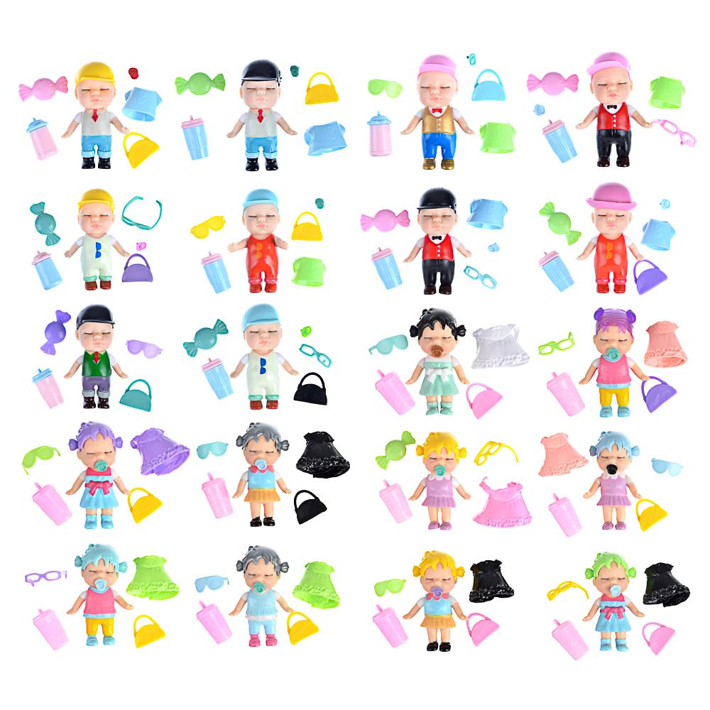 ИГРОЛЕНД Кукла-сюрприз в банке, пластик, 6,3х11см, 6-12 дизайнов - 3