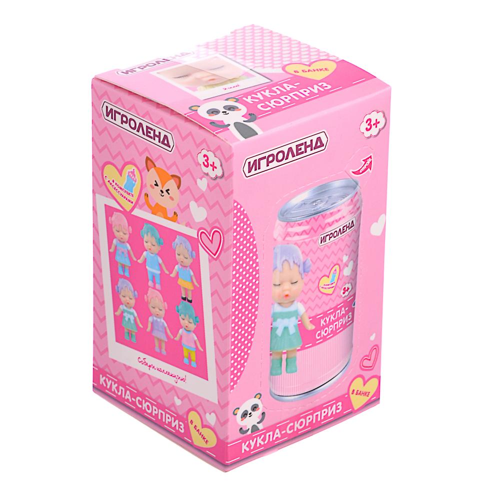 ИГРОЛЕНД Кукла-сюрприз в банке, пластик, 6,3х11см, 6-12 дизайнов - 5