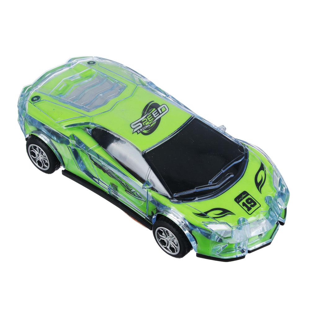 ИГРОЛЕНД Машина спорткар, пластик, свет, звук, инерция, 3хAG13, 6,5х16х3,5 см - 2