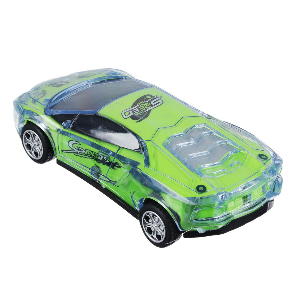 ИГРОЛЕНД Машина спорткар, пластик, свет, звук, инерция, 3хAG13, 6,5х16х3,5 см - 3