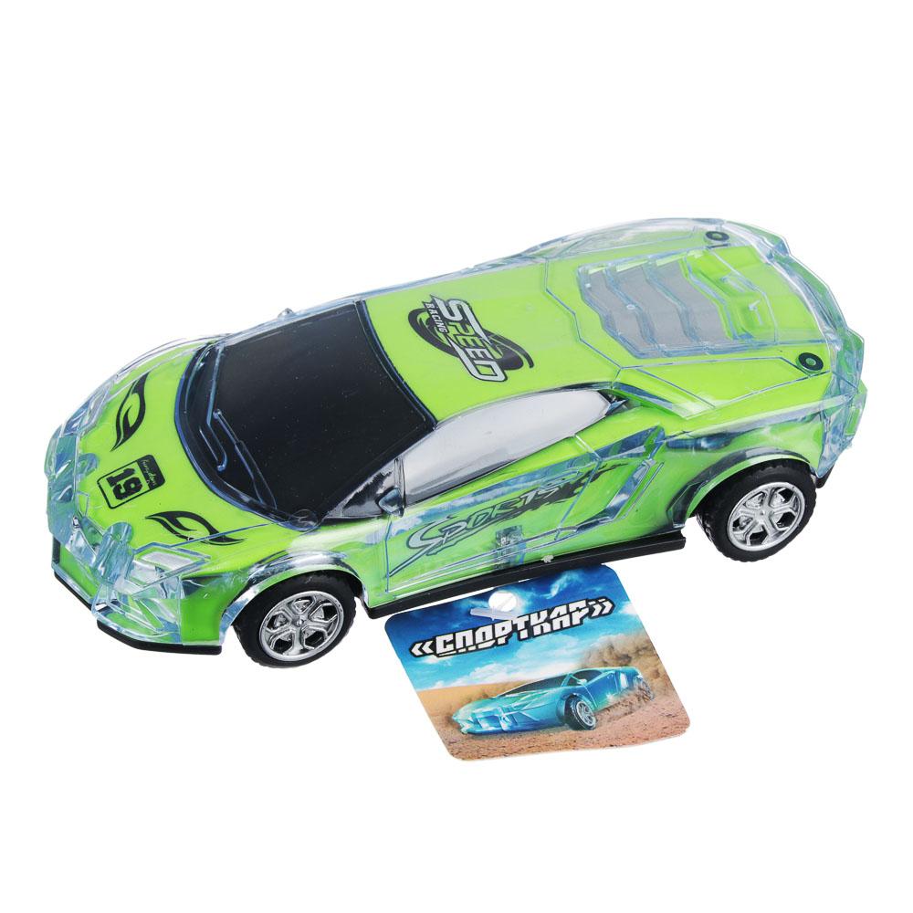 ИГРОЛЕНД Машина спорткар, пластик, свет, звук, инерция, 3хAG13, 6,5х16х3,5 см - 4