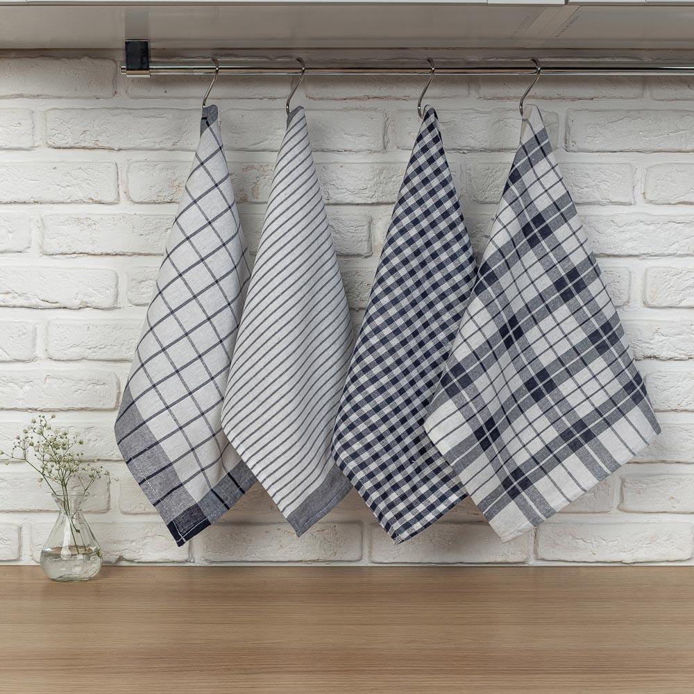 "PROVANCE Комплект полотенец кухонных 4шт, 75% хлопок, 25% ПЭ 40х60см, ""Классика"" - 5"