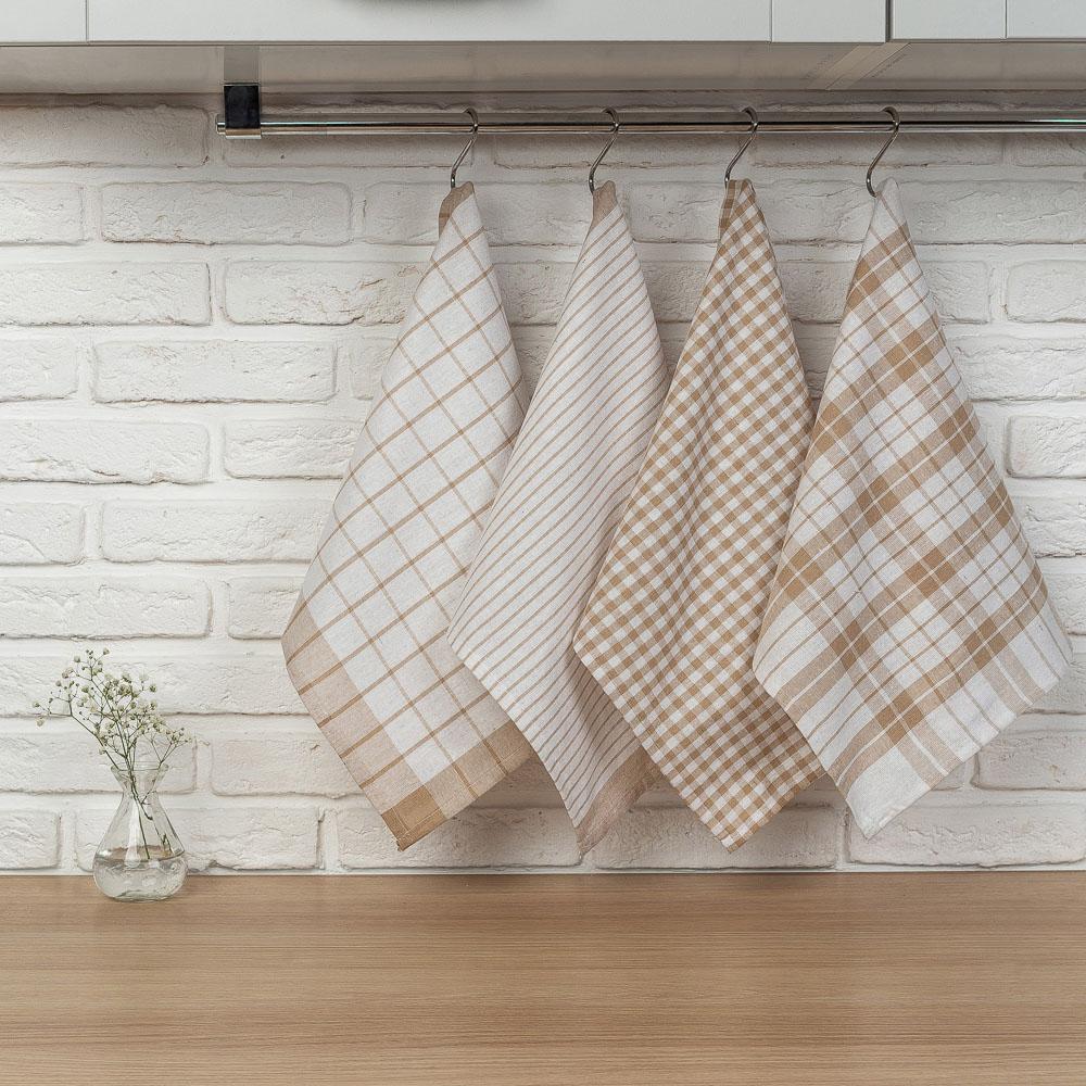 "PROVANCE Комплект полотенец кухонных 4шт, 75% хлопок, 25% ПЭ 40х60см, ""Классика"" - 6"