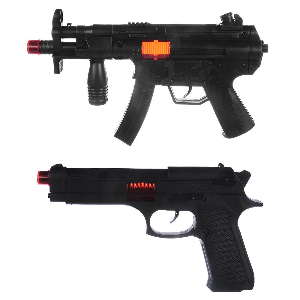 ИГРОЛЕНД Оружие-трещотка, PP, 2-4 пр, 21х29х4см, 2 дизайна - 2