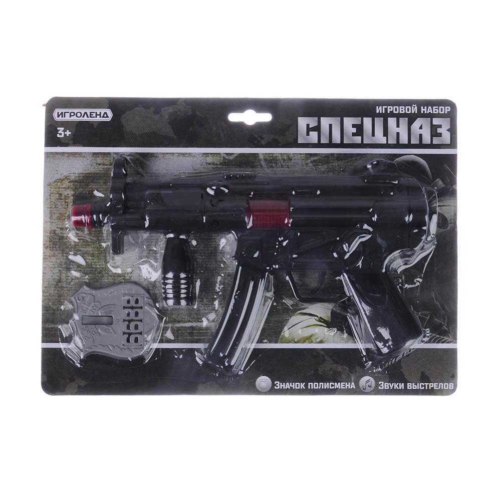ИГРОЛЕНД Оружие-трещотка, PP, 2-4 пр, 21х29х4см, 2 дизайна - 3