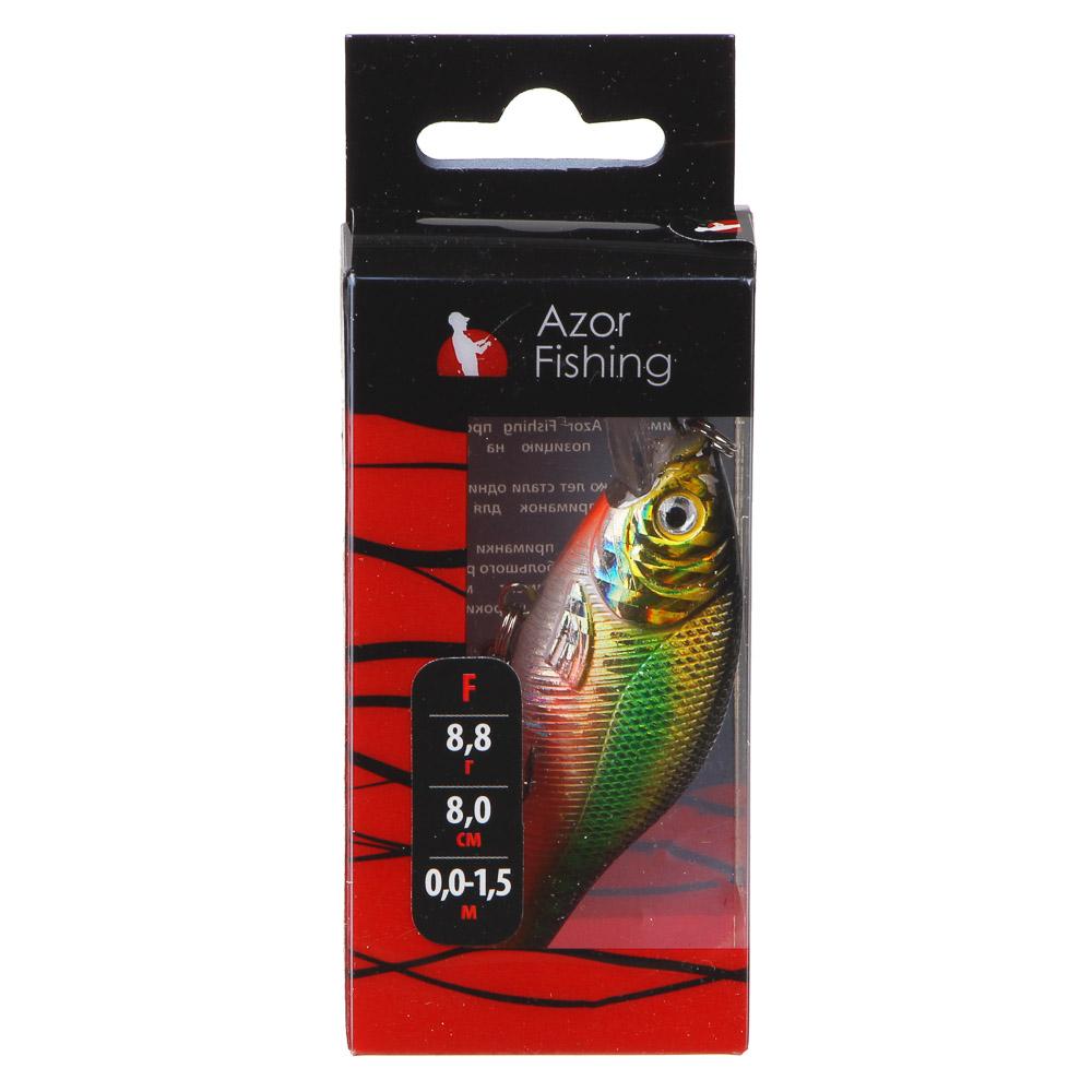"AZOR FISHING Воблер ""Фэри Крэнк"", F, 8,8гр, 80мм, 0,0-1,5м, 6 цветов - 3"