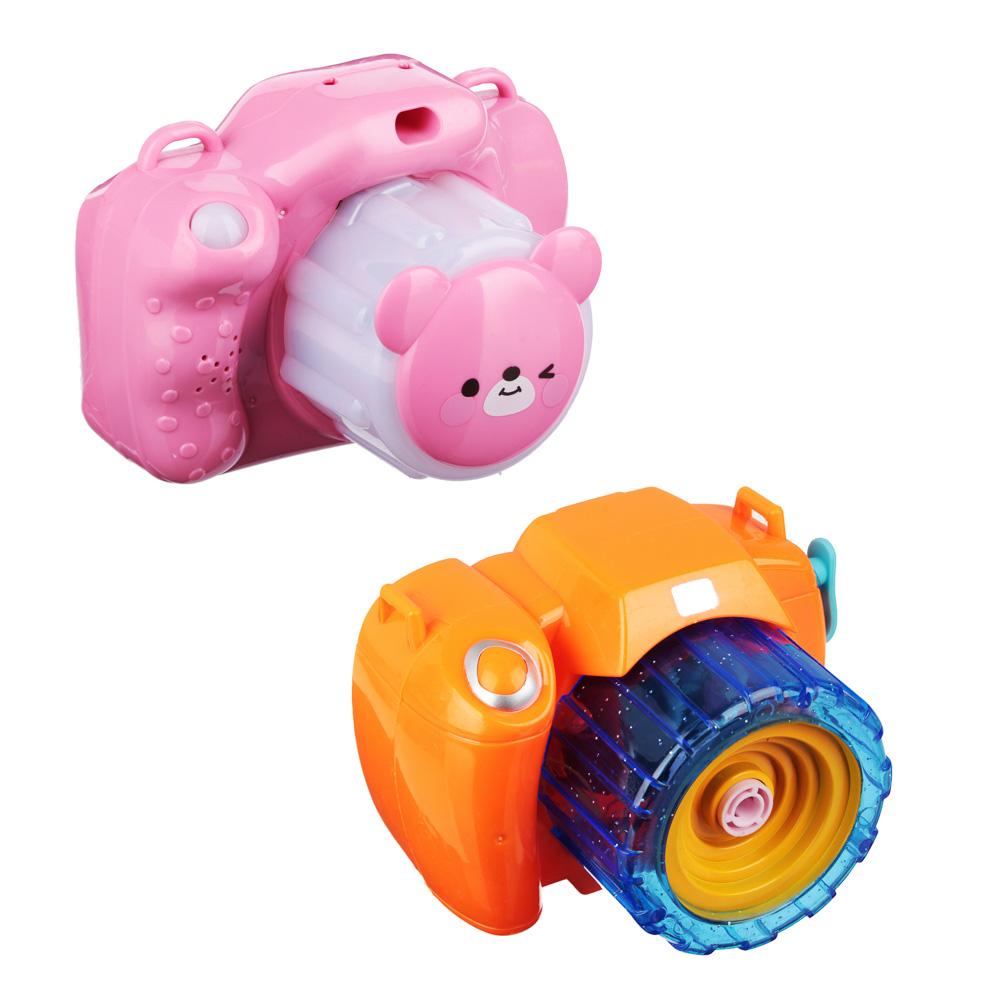 ИГРОЛЕНД Фотокамера Машина для мыл.пуз., 3хАА, с мыл-м раствр. 100 мл., ABS, 9,5х14х9,5см - 2