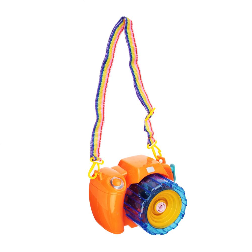 ИГРОЛЕНД Фотокамера Машина для мыл.пуз., 3хАА, с мыл-м раствр. 100 мл., ABS, 9,5х14х9,5см - 5