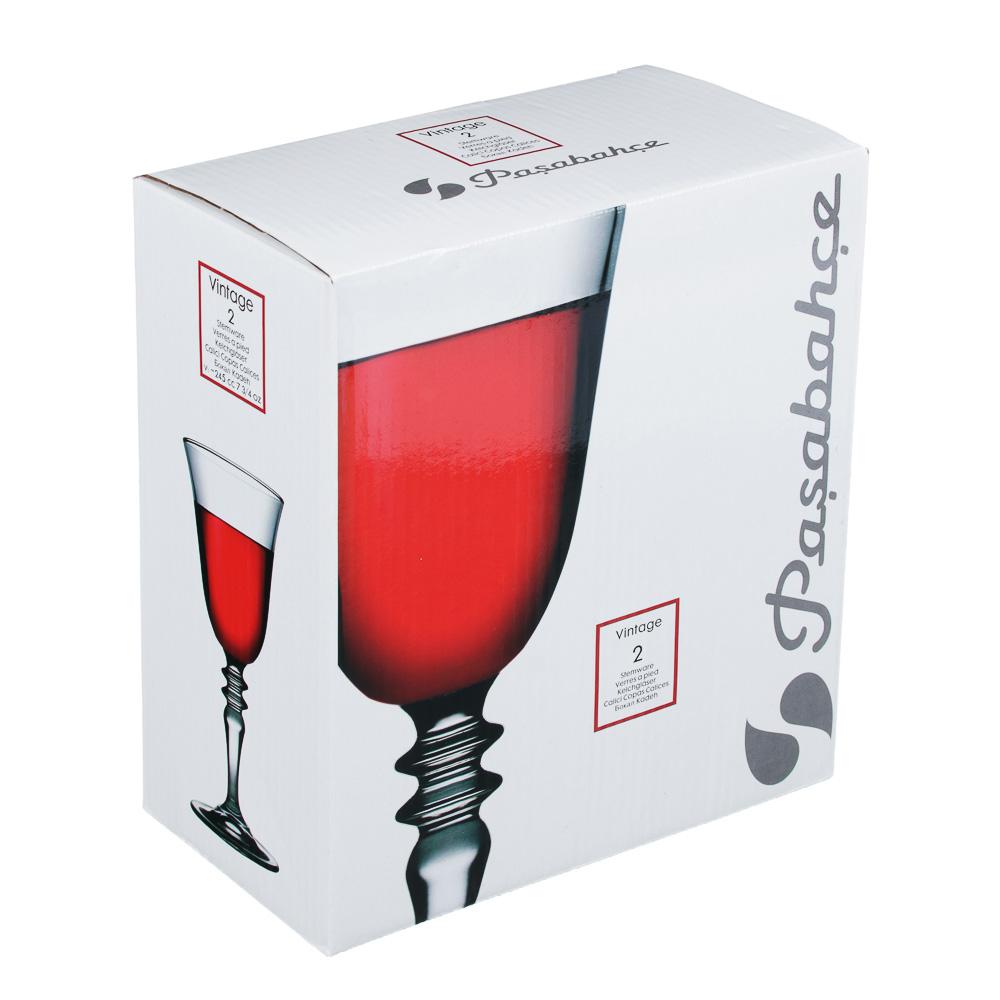 """PASABAHCE Набор бокалов 2шт для вина, 245мл, """"Винтаж"""", 440184B - 3"""