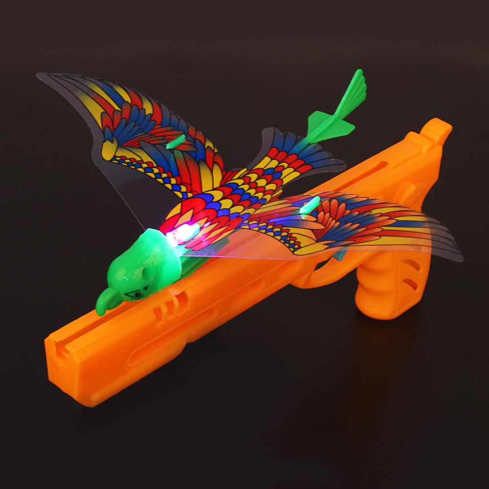 ИГРОЛЕНД Запускалка светящаяся в виде птицы, PP, PVC, 18,5х29х1см - 5