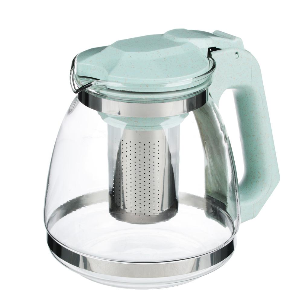VETTA Чайник заварочный 1500мл, ситечко из нержавеющей стали, стекло, пластик, 2 цвета - 2