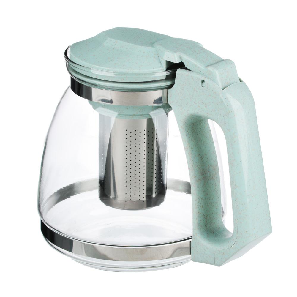 VETTA Чайник заварочный 1500мл, ситечко из нержавеющей стали, стекло, пластик, 2 цвета - 3