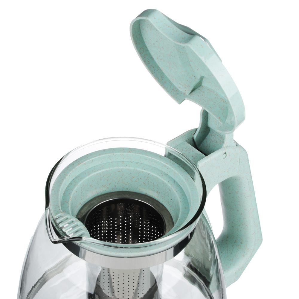 VETTA Чайник заварочный 1500мл, ситечко из нержавеющей стали, стекло, пластик, 2 цвета - 4