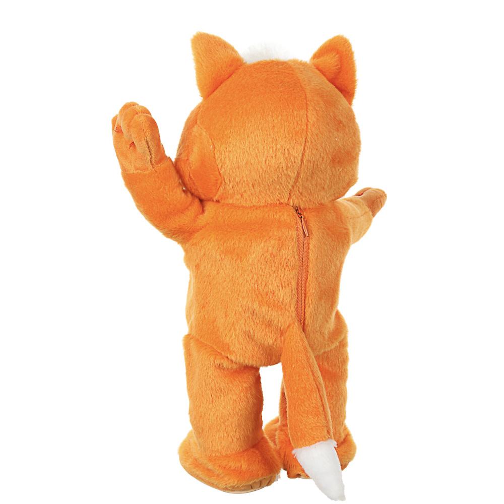 BY Игрушка танц. в виде рыжего кота,запись гол.,движ.,АКБ и ЗУ в комп.,полиэстер 100%,ABS,35х30х17см - 6