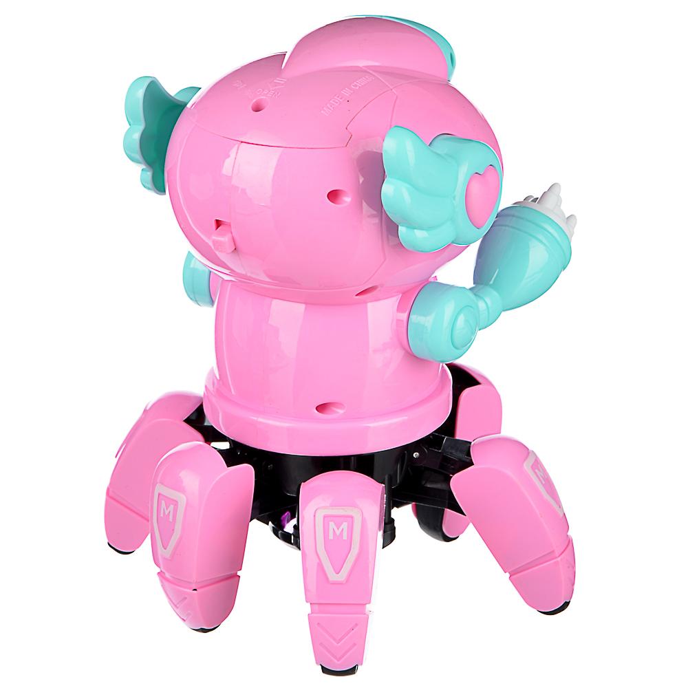 ИГРОЛЕНД Игрушка интерактивная в виде робота, движение, свет, звук, 3АА, ABS, 18х14х14см - 4