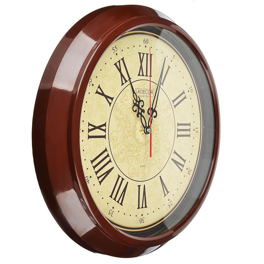 LADECOR CHRONO Часы настенные круглые, d30см, пластик, 3 дизайна - 4