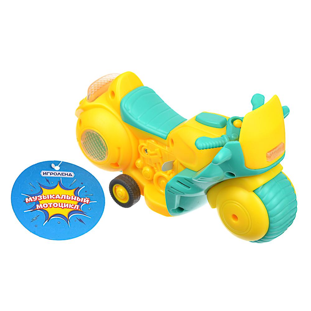 ИГРОЛЕНД Мини-мотоцикл, инерция, ABS, свет, звук, 3хAG13, 15х8,7х7см, 4 дизайна - 3