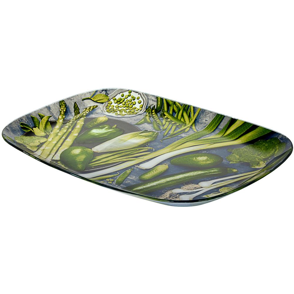 Овощи Блюдо прямоугольное, стекло, 35х25см - 2