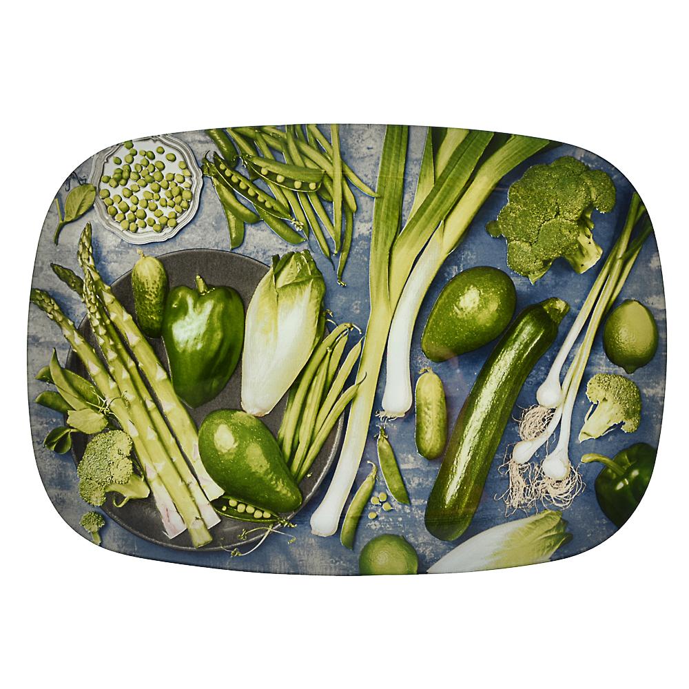 Овощи Блюдо прямоугольное, стекло, 35х25см - 3