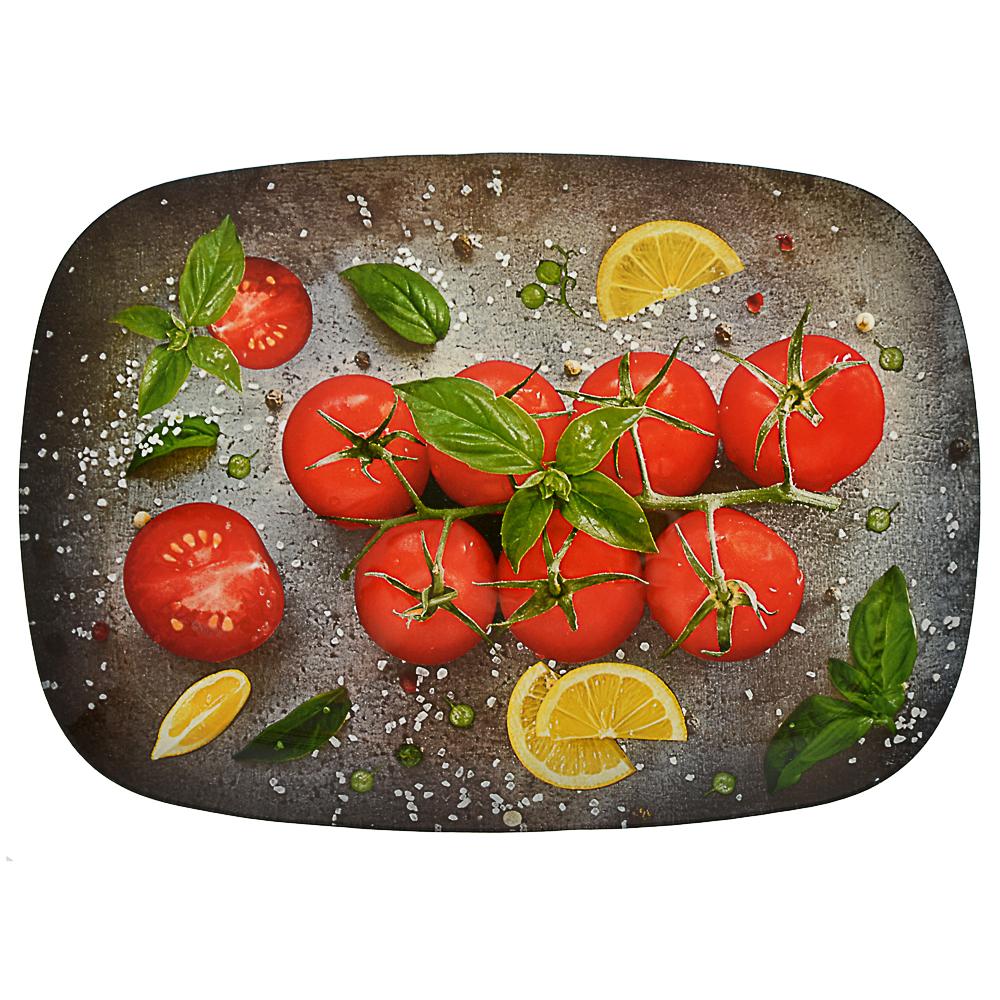 Овощи Блюдо прямоугольное, стекло, 35х25см - 4