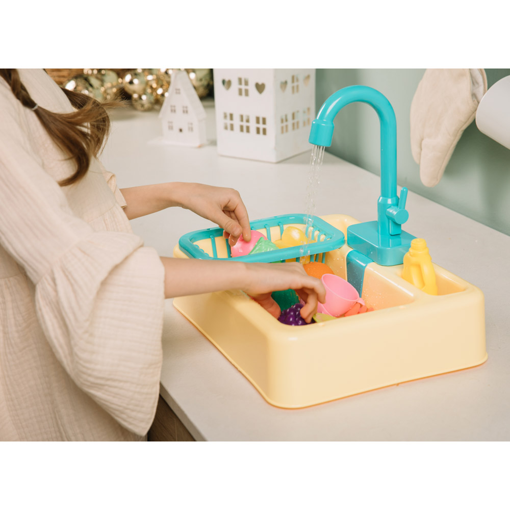 ИГРОЛЕНД Раковина, посуда, продукты, функция вода, 2хАА, PVC, ABS, 19 пр., 34х24х9 см, 4 дизайна - 8