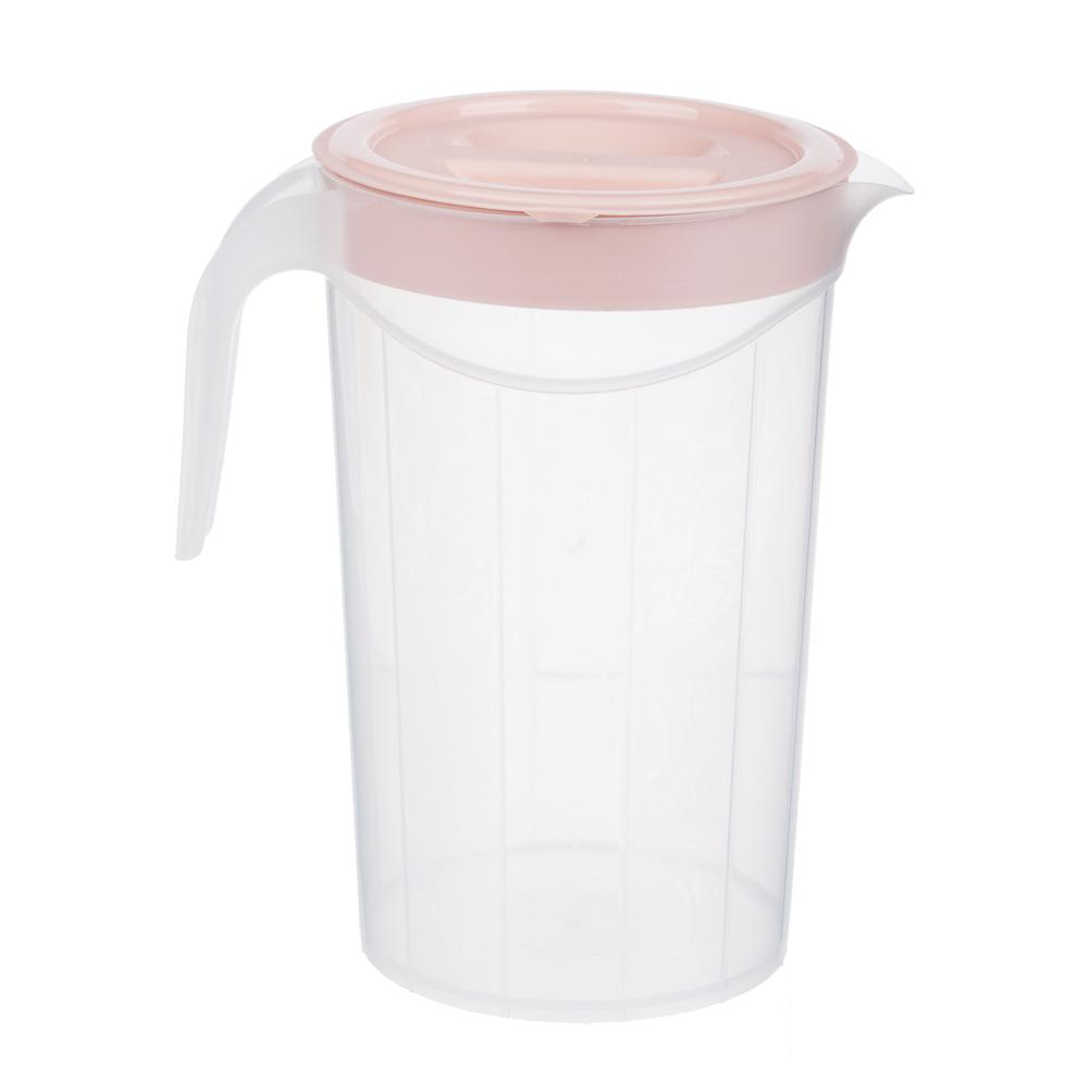 Набор посуды, 6 пр.: кувшин 2л, стаканы 4шт 0,33л, пластик, 2 цвета - 5