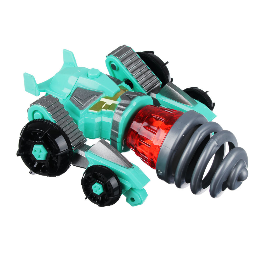 """ИГРОЛЕНД Игрушка """"запускалка"""" в виде трансформирующ. робота,волчок, диск, свет, ABS, 21,6х30х5см - 2"""