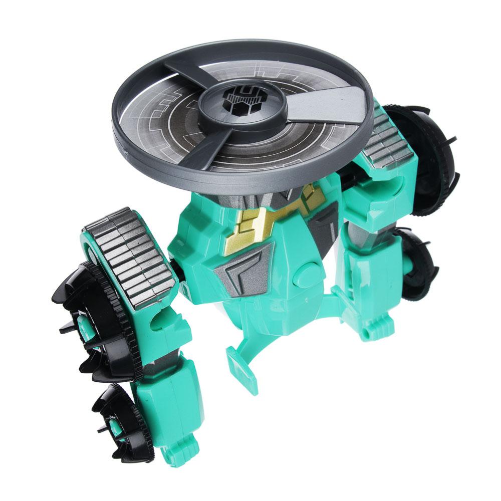 """ИГРОЛЕНД Игрушка """"запускалка"""" в виде трансформирующ. робота,волчок, диск, свет, ABS, 21,6х30х5см - 3"""