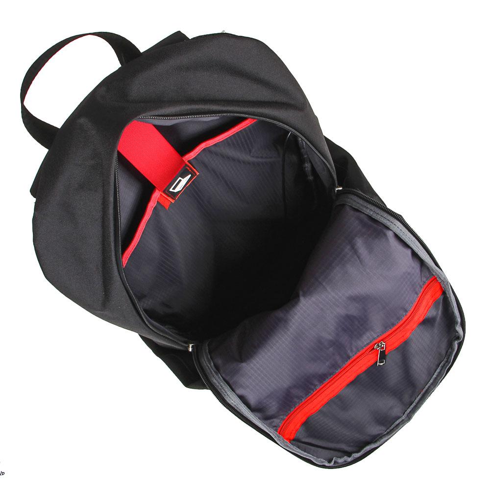 BY Рюкзак подростковый, 49х30х14см, 1 отд., 1 карм., эргономичная спинка, USB, полиэстер, черный - 6