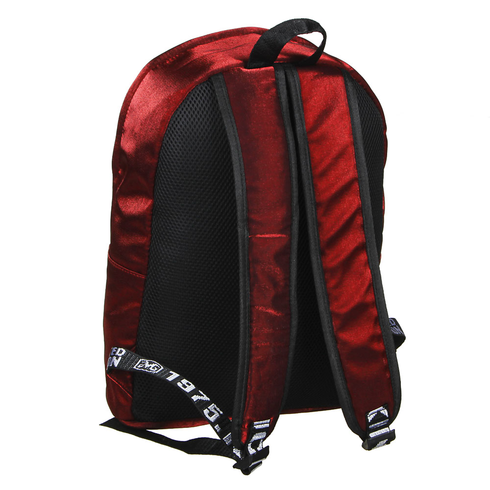 """Рюкзак подростковый, 41x31x11,5см, 1 отд, 3 кармана, уплотненные лямки, """"сияющий"""" нейлон, 3 цвета - 3"""