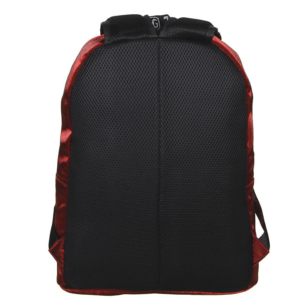 """Рюкзак подростковый, 41x31x11,5см, 1 отд, 3 кармана, уплотненные лямки, """"сияющий"""" нейлон, 3 цвета - 4"""