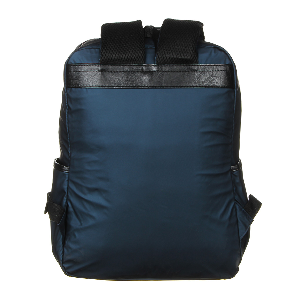 Рюкзак подростковый, 39,5x28x11см, 1 отд, 4 карм, многослойный водоотталк.нейлон, иск.кожа, 3 цвета - 5