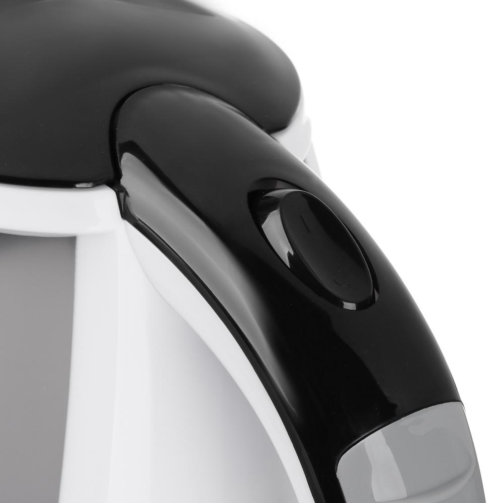 LEBEN Чайник электрический 1,8л, 1500Вт, 220-240В, 50Гц., пластик 291-083 - 5