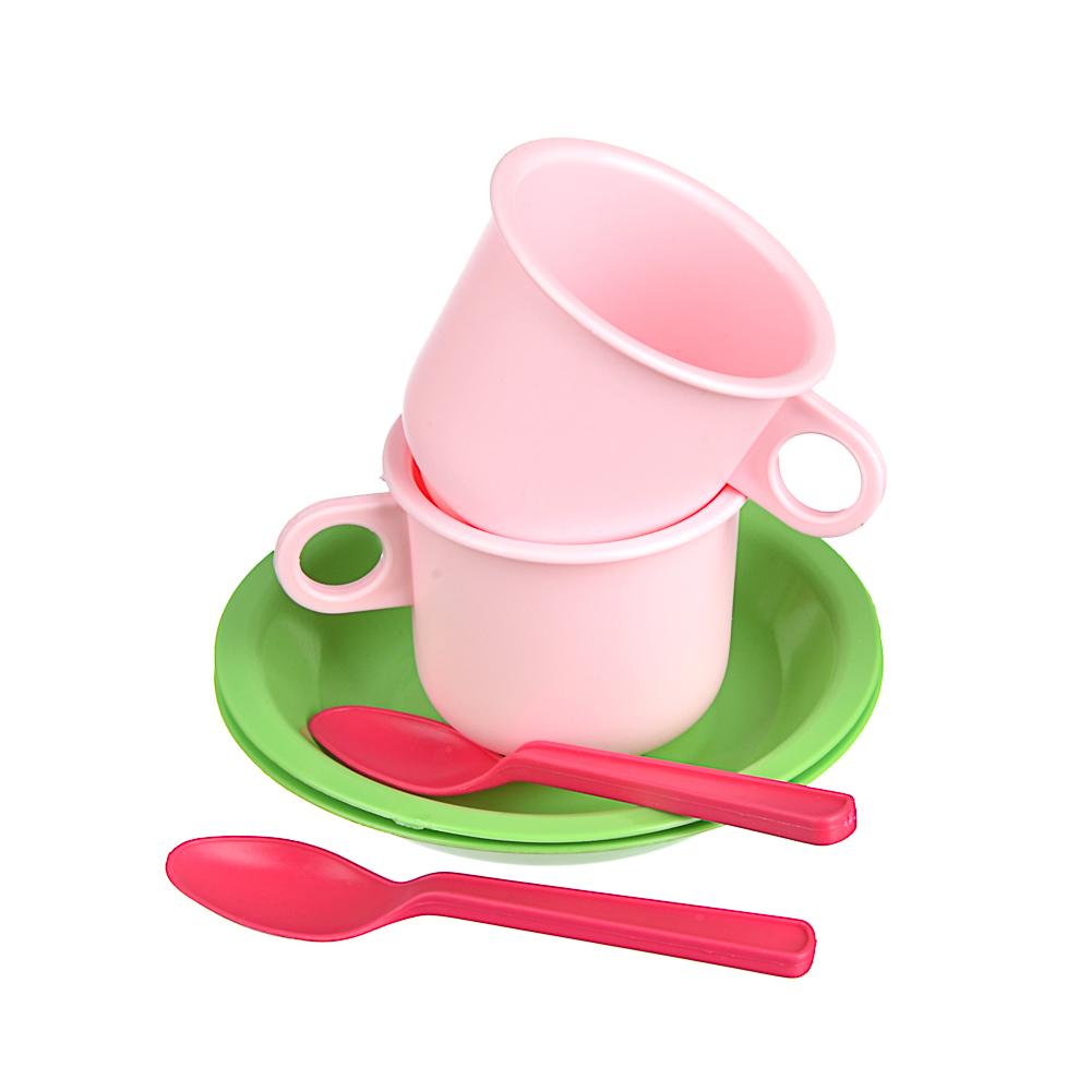 ИГРОЛЕНД Набор посуды в сетке, 6-18 пр., пластик, 25х12х10см, 5 дизайнов - 3
