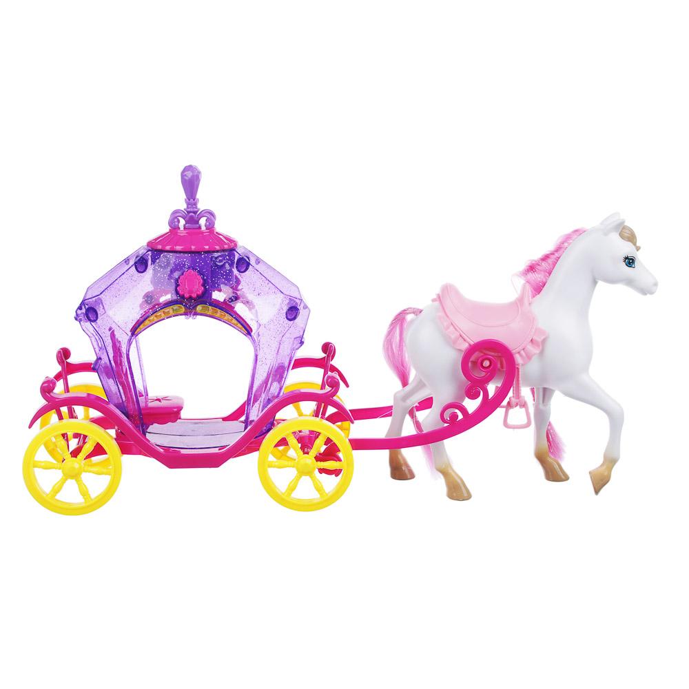 ИГРОЛЕНД Игрушка в виде кареты, с куклой, ABS, 3хAG13, свет, звук, 40,3х11х21,2см - 3
