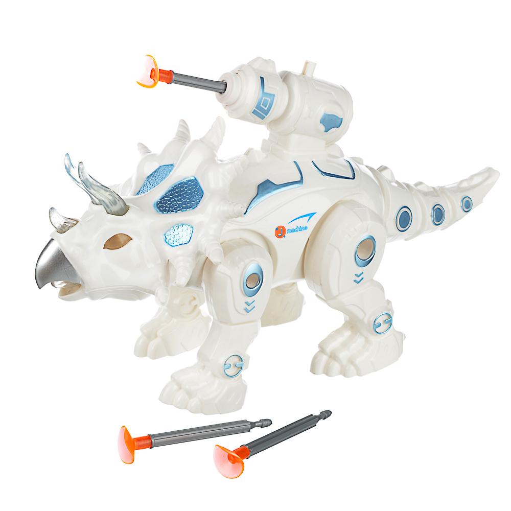 ИГРОЛЕНД Робо-динозавр боевой , свет, звук, движ., 2АА, ABS, 26х16,5-19х10см , 2 дизайна - 3