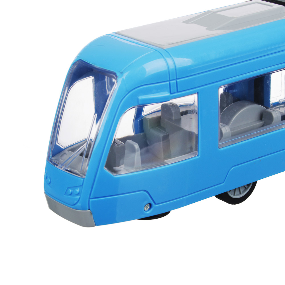 ИГРОЛЕНД Городской транспорт, ABS, 3хLR44, свет, звук, инерция, двери откр, 48х16,5х11,5см, 3 диз - 4