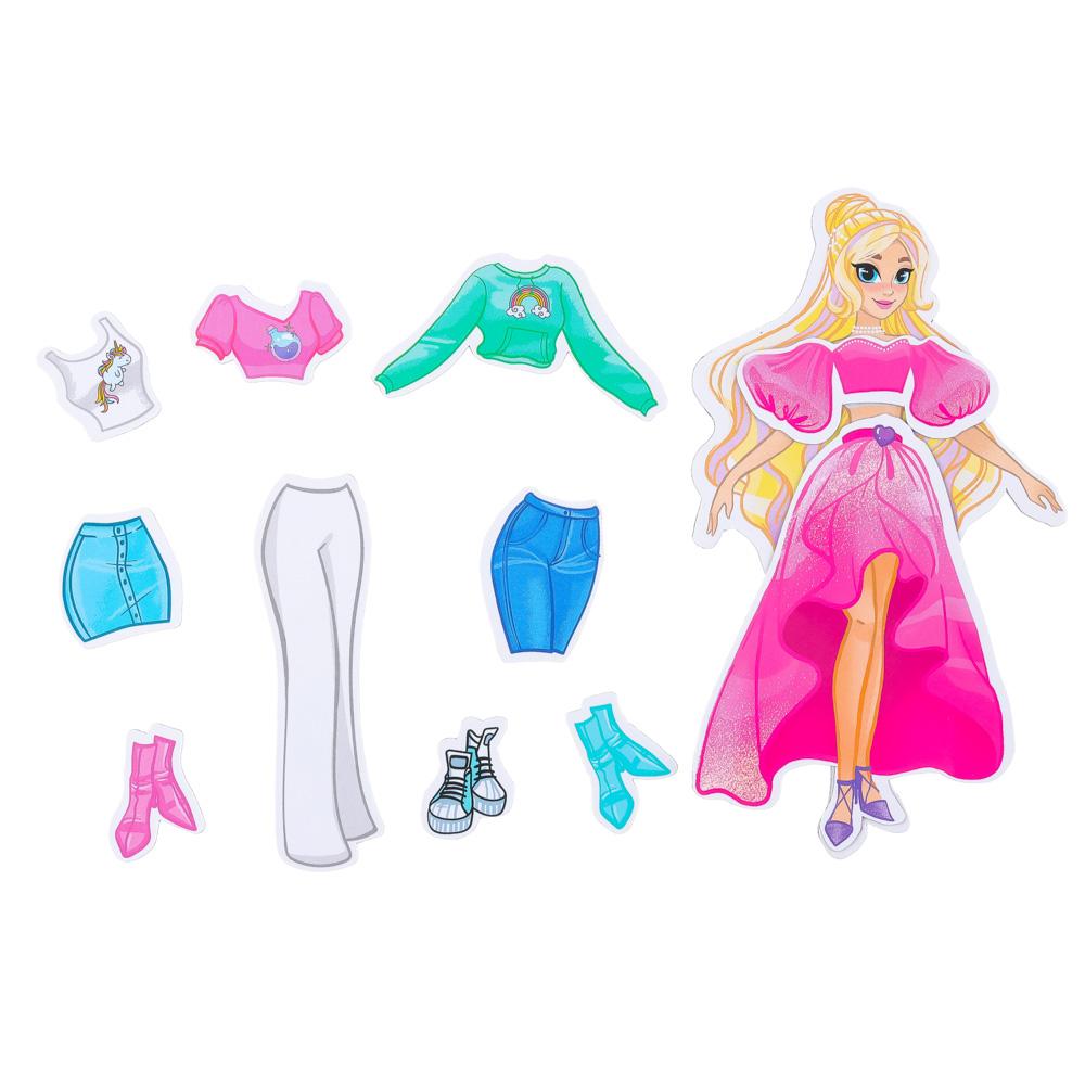 ЮТОН Кукла магнитная с нарядами, винил, бумага, 16х26x3см, 6 дизайнов - 3