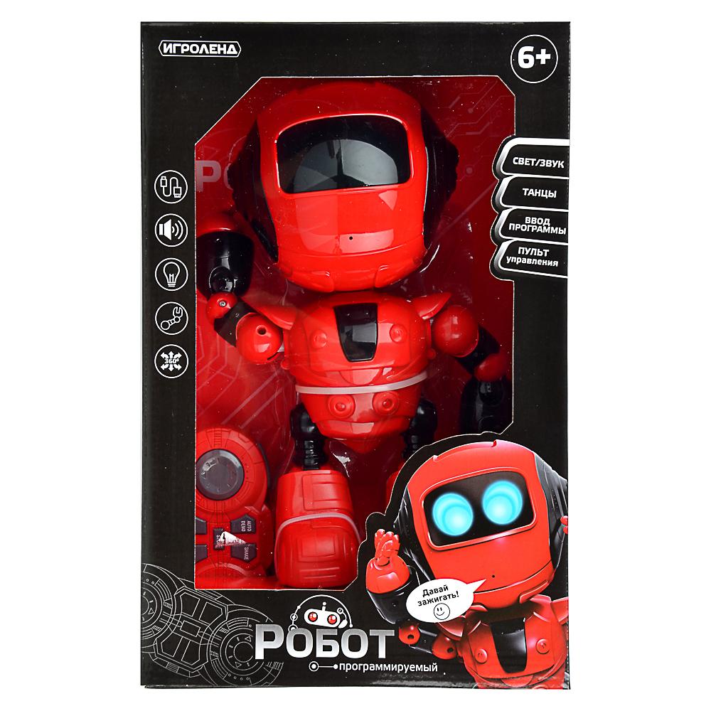 ИГРОЛЕНД Игрушка в виде робота программ. ABS, свет, звук, движ., 2АА, ЗУ/АКБ, 24х15,5х37,5 см - 2