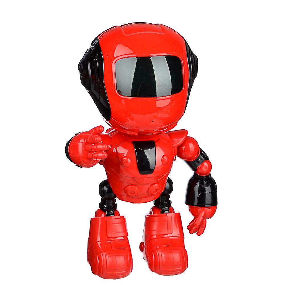 ИГРОЛЕНД Игрушка в виде робота программ. ABS, свет, звук, движ., 2АА, ЗУ/АКБ, 24х15,5х37,5 см - 3