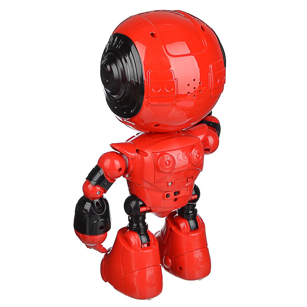 ИГРОЛЕНД Игрушка в виде робота программ. ABS, свет, звук, движ., 2АА, ЗУ/АКБ, 24х15,5х37,5 см - 4